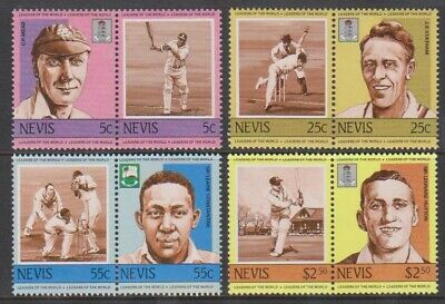 Nevis - 1984, Leaders of the World, Cricketers, 1st series set - MNH - SG 211/18
