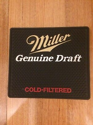 MILLER GENUINE DRAFT COLD-FILTERED ( NEW ) Full Rubber (Not Just Backed) Bar Mat