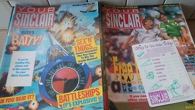 Your Sinclair ZX Spectrum Magazine Job Lot from 26 to 85 ( 60 issues ) + 28 Tape