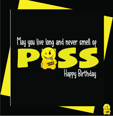 FUNNY/NOVELTY/BIRTHDAY/RUDE/CHEEKY CHOPS- Smell of piss-C352