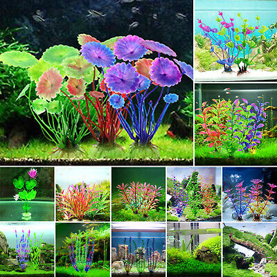 Artificial Water Aquatic Plants Grass Landscaping Ornamental Fish Tank Decor New