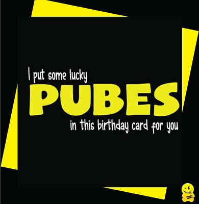 FUNNY/NOVELTY/BIRTHDAY/RUDE/CHEEKY CHOPS- Pubes in this card C358