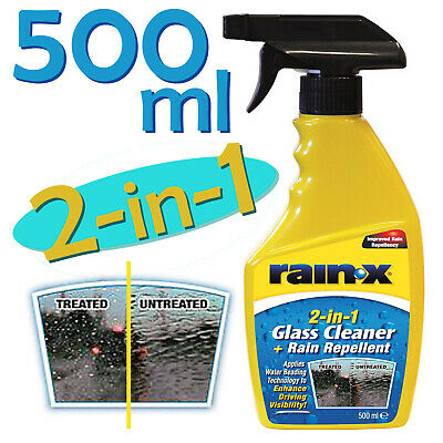 Rain-X 2-in-1 Rain Water Repellent and Glass Window Cleaner 500ml Trigger Spray