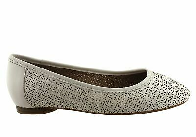 New Hush Puppies Angela Womens Leather Comfort Flat Shoes