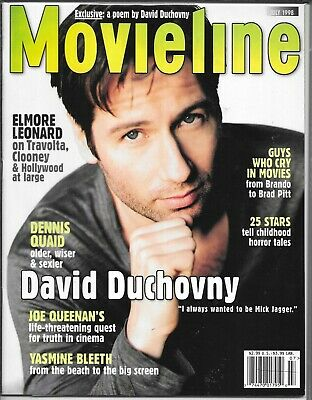 Movieline Magazine July 1998 (Vf/Nm) David Duchovny Of The X-Files Cover
