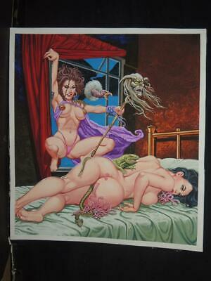 Bruja Blanca # 30 Sexy Pin Up Witch Original Horror Mexican Cover Art