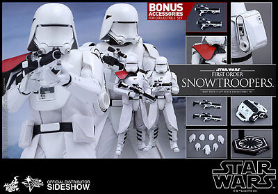 """Hot Toys Star Wars FIRST ORDER SNOWTROOPERS 12"""" Figure Set 1/6 Scale MMS323"""