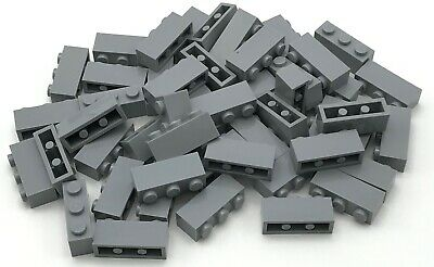 Lego Lot of 50 New Light Bluish Gray Plates 3 x 3 Dot Parts