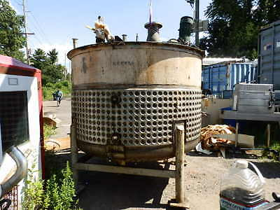 B Nolte & Sons 1800 gallon jacketed Stainless Steel Tank with  Lightin Mixer
