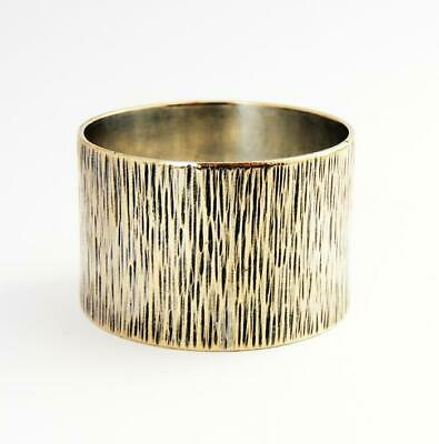 DAVID ANTHONY LAW MODERNIST NAPKIN RING c1975 Silver Plated
