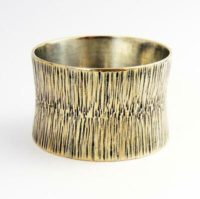 DAVID ANTHONY LAW MODERNIST NAPKIN RING c1975 Silver Plated WAISTED STYLE