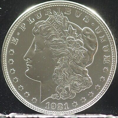1921 UNCIRCULATED MIRROR LIKE Morgan Silver Dollar 90% Silver $1 Coin #X115