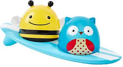 Skip Hop ZOO LIGHT-UP SURFERS Floating Bath Toy Owl Bee Baby/Toddler/Kid BN