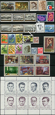 Yugoslavia 1973 Complete year commemorative and definitive MNH