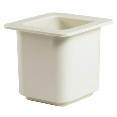 """Cambro 66CF148 ColdFest White 1/6 Size 6"""" H Cold Food Pan"""