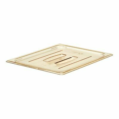 Cambro 20HPCH150 H-Pan Amber 1/2 Size Food Pan Cover with Handle
