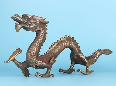 Complete Chinese Bronze Statue Sacred Dragon Home Decoration Large