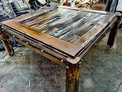 Brand new, dining table crafted, from rare reclaimed, antique Victorian timber