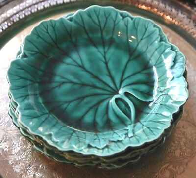 "Wedgwood Etruria Barlaston Set 3 Plates  Grape Leaf Salad Desert Lunch 7""W"