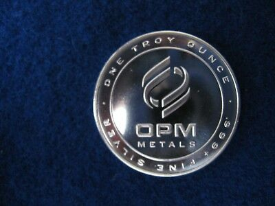OPM 1 Troy oz. .999 Fine Silver Round Made in USA
