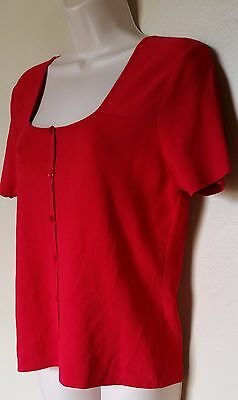 5fcadf0adf2 CARDUCCI KNIT TOP Sz S Off White Dress Casual Beaded V Neck -  5.59 ...