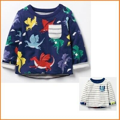 MINI BODEN Baby BOYS SUPERSOFT REVERSIBLE APPLIQUE FUN Top. BRAND NEW