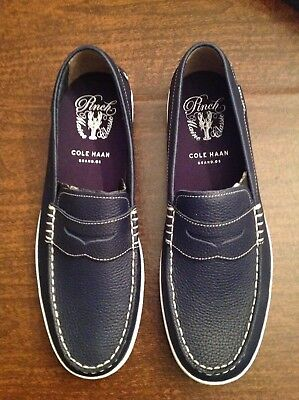 6326643ddbd8 COLE HAAN MEN S Pinch Weekender Navy Leather Loafers Size  11.5M NIB ...
