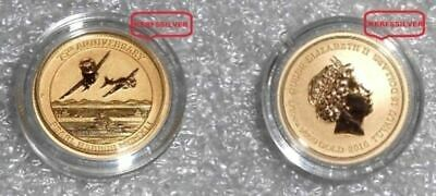 2016 Pearl Harbor  75Th Ann. Perth Mint {Unc} 9999 Fine Gold Bullion  Coin & Coa