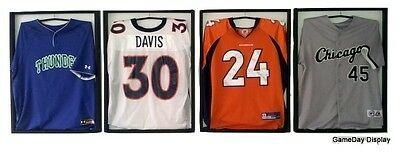 Lot of 4 Jersey Display Case Standard White GameDay Display CHECK OUR EBAY STORE