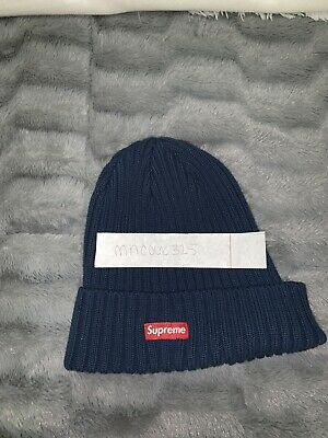 3e11a227cb3 SUPREME OVERDYED RIBBED Beanie (SS18) Washed Royal -  60.00