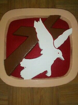 Handcrafted Cross And Dove Logo Wall Plaque/ Jimmy Swaggart Ministries/ SBN Logo