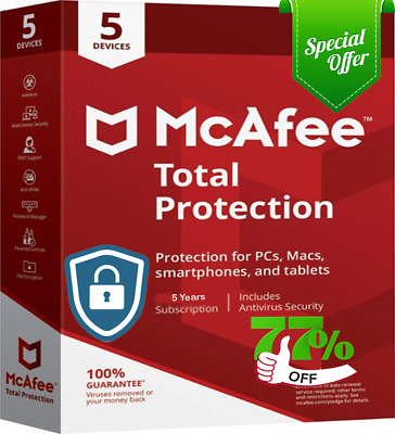 Download McAfee Total Protection 2019 5 User 5 years - Latest Updates