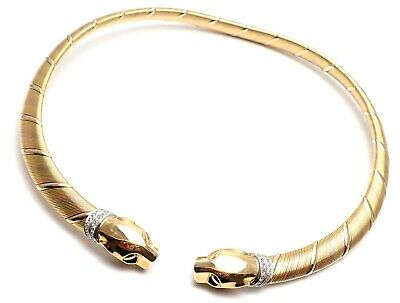 3057c69bc7396 AUTHENTIC! CARTIER PANTHER Panthere 18k Tri-Color Gold Diamond ...