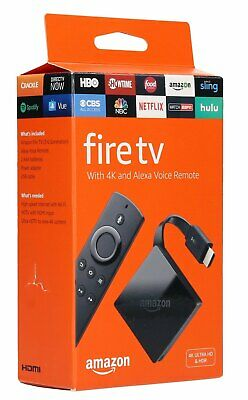 Amazon Fire TV with 4K Ultra HD and Alexa Voice Remote - Black (3rd Gen) - NEW™