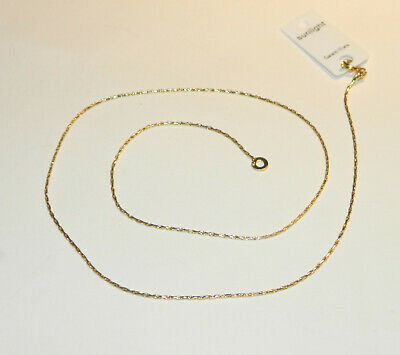Collier Chaine Maille Serpent 45Cm Plaque Or Neuf
