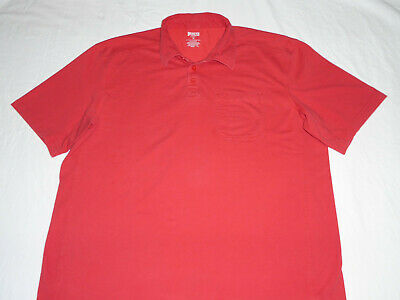 Duluth Trading Men's Longtail T CoolMax Short Sleeve Polo Shirt XL Tomato Red