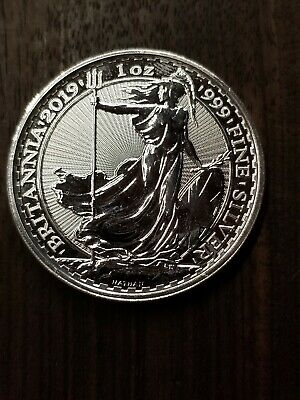 2019 Great Britain 1 oz. Silver Britannia £2 Coin GEM BU