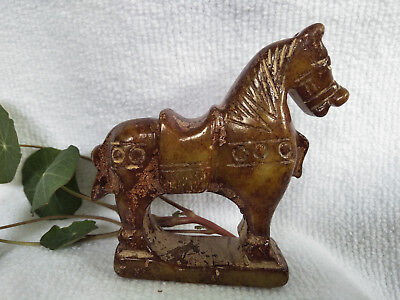 Chinese Exquisite Hand-carved old jade horse C30