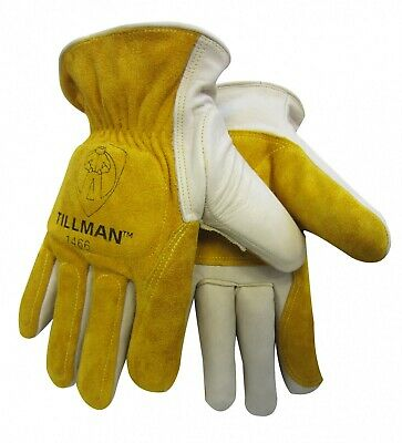 Tillman 1466 LARGE Double Palm, Back Impact Protection Handling Glove Welding