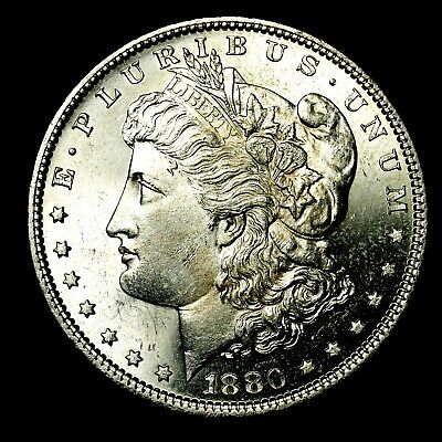 1880 P ~**UNCIRCULATED**~ Silver Morgan Dollar Rare US Old Antique Coin! #L79