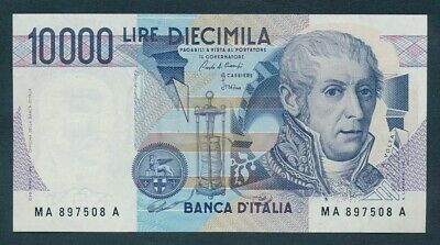 """Italy: 3-9-1984 LAST 10,000 Lire """"REPLACED BY EURO"""". Pick 112a UNC Cat $60"""