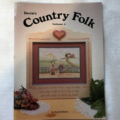 Country Folk Vol 4 Tole Painting Book instruction pattern Acrylic Darcie Hunter