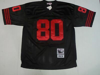 Cheap NEW JERRY RICE San Francisco 49ers Men's M&N Black Rush Style  for cheap