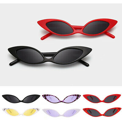 4d6cf75bc1b8d Small Cat Eye Fashion Women Sunglasses Flat Top Retro Vintage Shade Eyewear