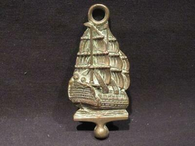 HMS Victory Vintage Figural Nelson's Flagship Fireplace Tool, Brush, Poker Top