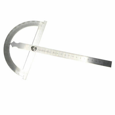 1pcs 0-180 Degree Protractor Arm Stainless Steel 15cm Ruler Angle Finder Gauge