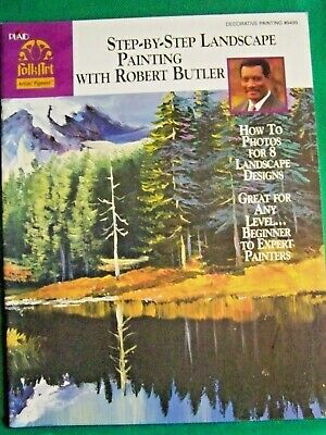 Step By Step Landscape Painting By John Butler 1998 Acrylic Tole Paint Book
