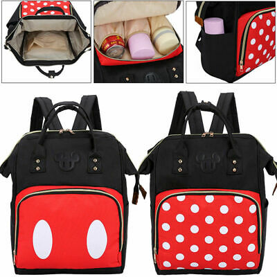 US Mummy Diaper Bag Baby Nappy Backpack Maternity Large Capacity Travel Baby Bag