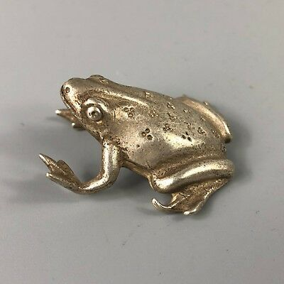 Chinese Antique Collectible Old Tibet Silver Handwork Rare Frog Prince Statue
