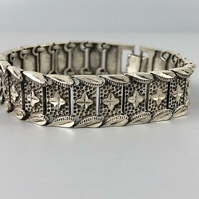 Chinese Collectible Old Tibet Silver Handwork Starriness Rare Antique Bracelet